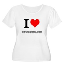 I heart cumberbatch Plus Size T-Shirt