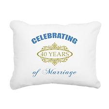 Celebrating 40 Years Of Marriage Rectangular Canva