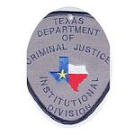 Texas Prison Oval Ornament