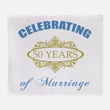 Celebrating 50 Years Of Marriage Throw Blanket