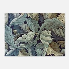Acanthus Leaf by William Morris 5'x7'Area Rug