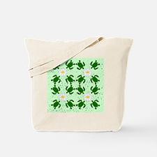 Turtles N Daisies Tote Bag