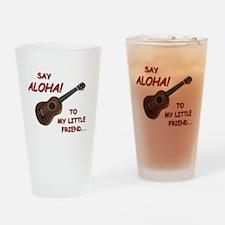 Say Aloha Drinking Glass