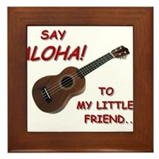 Say Aloha Framed Tile