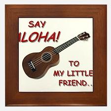 Say Aloha Framed Tile