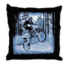"""""""Fun in the Woods"""" (Blue) Throw Pillow"""