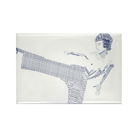 Bruce Lee Rectangle Magnet