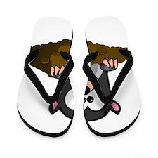Cartoon Gopher Flip Flops
