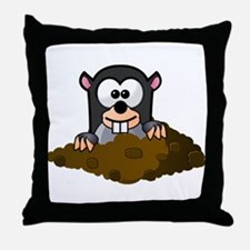 Cartoon Gopher Throw Pillow
