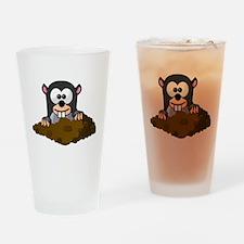 Cartoon Gopher Drinking Glass