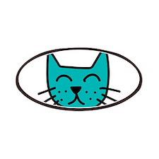 Aqua Cat Face Patches