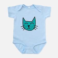 Aqua Cat Face Body Suit