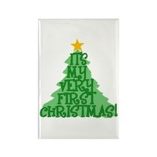 It's My First Christmas Rectangle Magnet