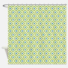 Geometric Shower Curtains