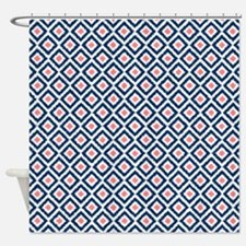Geometric Shower Curtains Geometric Fabric Shower Curtain Liner