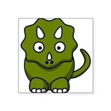 Cartoon Triceratops Dinosaur Sticker