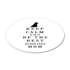 Keep Calm Bichon Frise Designs Wall Decal