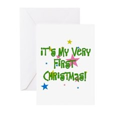 Star Studded Baby's First Christmas Greeting Cards
