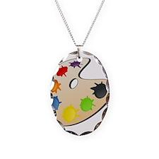 Art Paint Palette Necklace