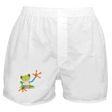 Green and Orange Frog Boxer Shorts