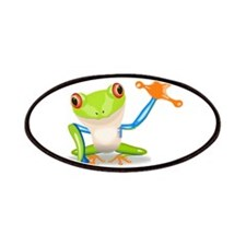 Green and Orange Frog Patches