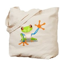 Green and Orange Frog Tote Bag