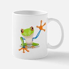 Green and Orange Frog Mug
