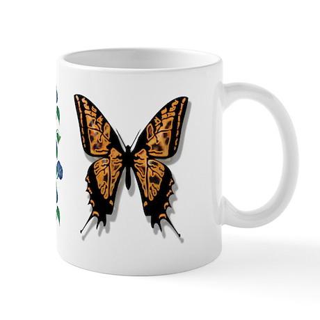 Butterfly w/ Morning Glories 11oz. Mug