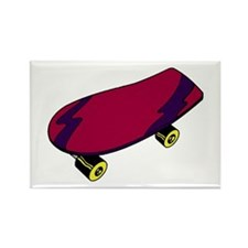 Skateboard Rectangle Magnet