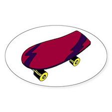 Skateboard Oval Decal