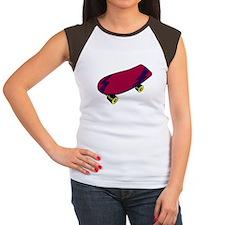 Skateboard Women's Cap Sleeve T-Shirt