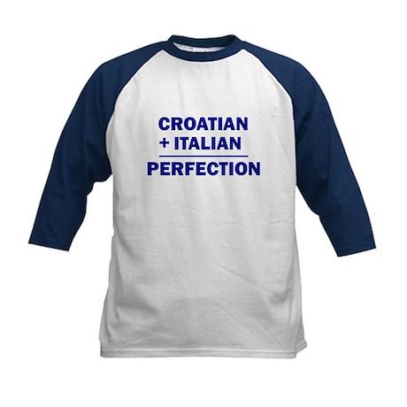 Italian + Croatian Kids Baseball Jersey