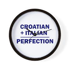 Italian + Croatian Wall Clock