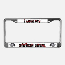 Anime African Grey License Plate Frame