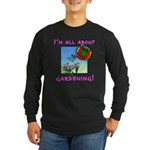 Gardening Long Sleeved Black Tee