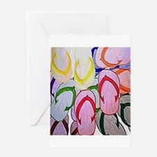flipflops by bjork 12x12 Greeting Card