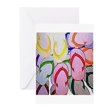 flipflops by bjork 12x12 Greeting Cards (Pk of 10)