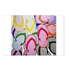 flipflops by bjork 12x12 Postcards (Package of 8)