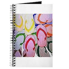flipflops by bjork 12x12 Journal