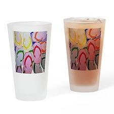 flipflops by bjork 12x12 Drinking Glass
