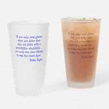 prescription windshield Drinking Glass