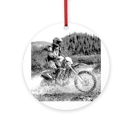 """Mountain Trail Riding"" Ornament (Round)"