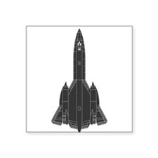 "Lockheed SR-71 Blackbird Square Sticker 3"" x 3"""
