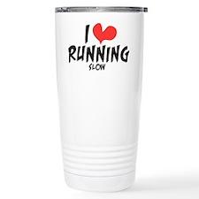 Funny Love Running Slow Travel Mug