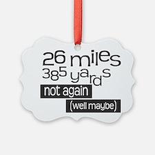Funny 26.2 Marathon Ornament