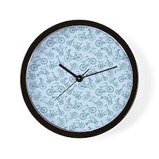 Blue Bikes Wall Clock
