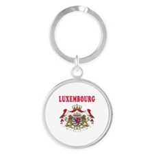 Luxembourg Coat Of Arms Designs Round Keychain