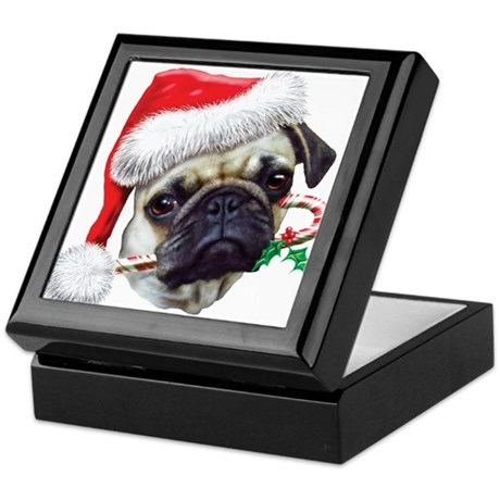 Pug Christmas Keepsake Box