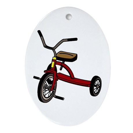Tricycle Oval Ornament