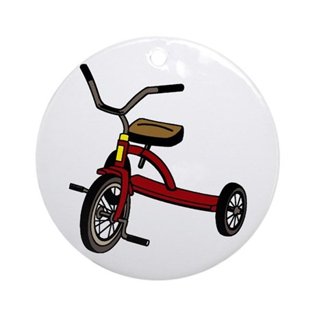 Tricycle Ornament (Round)